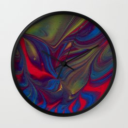 Paint Pouring 22 Wall Clock
