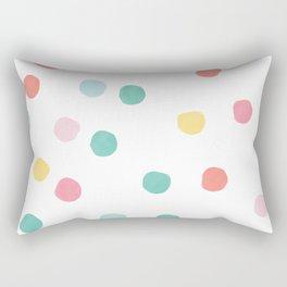 Watercolour spots in multicolour Rectangular Pillow