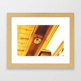 Yellow Lamp Framed Art Print