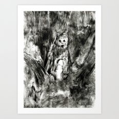 Dream view serie - Forest meeting III Art Print