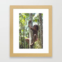 Climbing Trees Framed Art Print