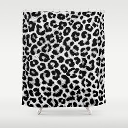 ReAL LeOparD B&W Shower Curtain