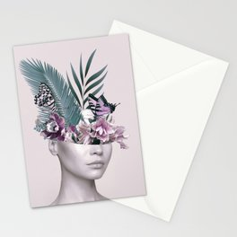 Tropical Girl 3 Stationery Cards