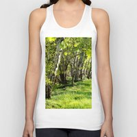 birch Tank Tops featuring birch alley by Kay Weber