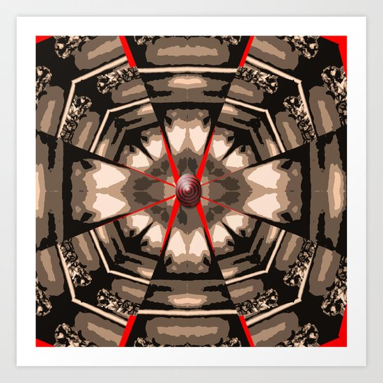 Internal Kaleidoscopic Daze- 13 Art Print
