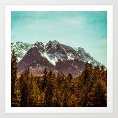 Alpspitze till Zugspitze Art Print