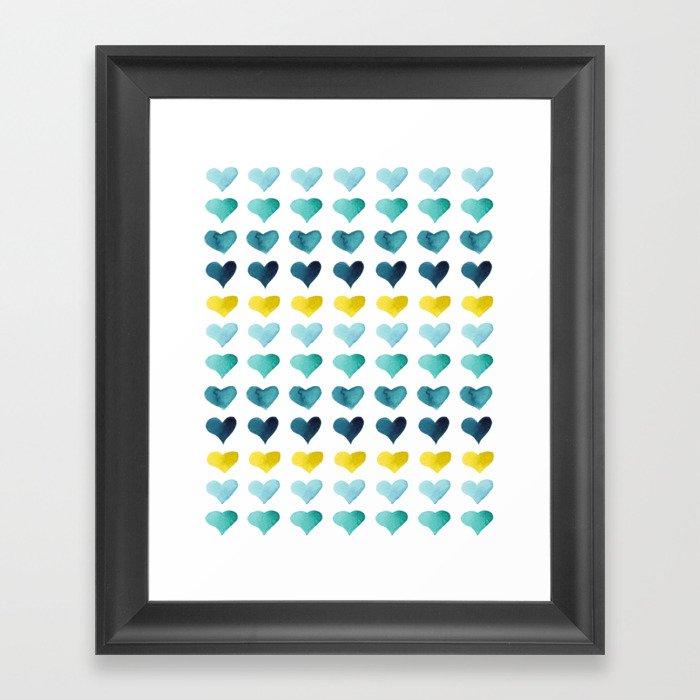 Hearts of the Sea Gerahmter Kunstdruck
