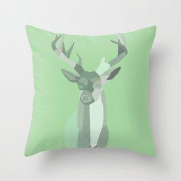URBAN DEER Throw Pillow