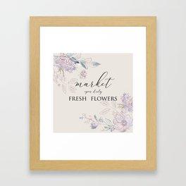 fresh flower market Framed Art Print