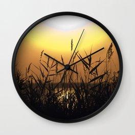 Seagrass - Summersunset - Isle Ruegen Wall Clock
