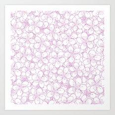 Cherry Blossom Pink Outline - In Memory of Mackenzie Art Print