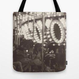 Fuzzy Carousel - B&W Tote Bag