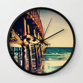 Cherry Grove SC Fishing Pier Wall Clock