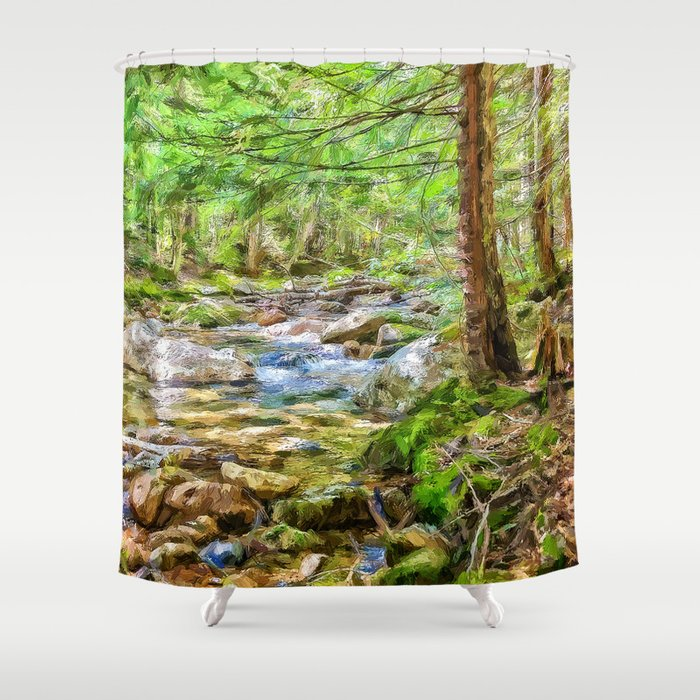 Swift River Shower Curtain By Photosbyhealy