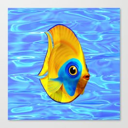 Tropical Fish on Clear Ocean Water 3D Canvas Print
