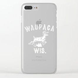 waupaca wis Clear iPhone Case