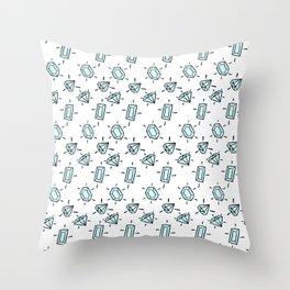 Diamondssssss Throw Pillow