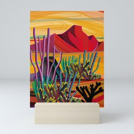 Zen Cactus Garden Mini Art Print