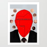 putin Art Prints featuring Putin-Quiz  by Alessandro De Vita