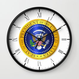 Presedent Seal Depiction Wall Clock