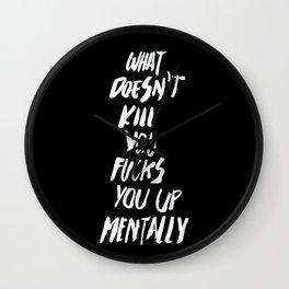 Mentally, alternative Wall Clock