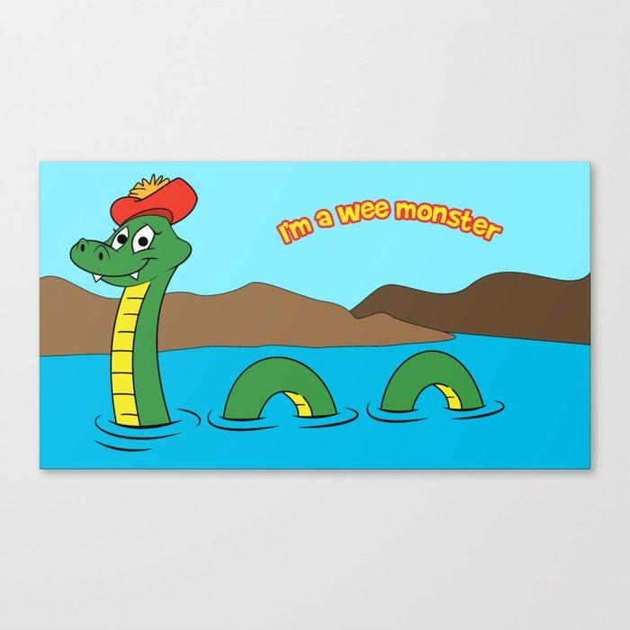 Nesie (Loch Ness Monster) Canvas Print