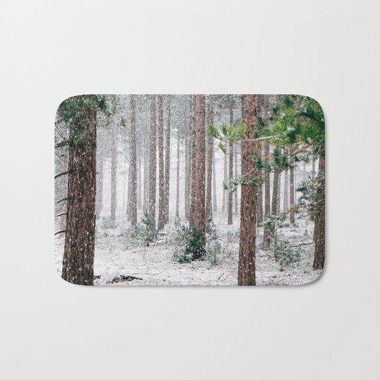 Snow #woods Bath Mat