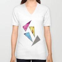 david bowie V-neck T-shirts featuring David Bowie inQuadri by InQuadricromia