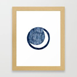 take you to the moon Framed Art Print
