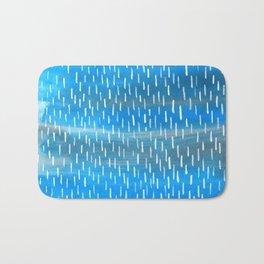 Blue Rain Bath Mat