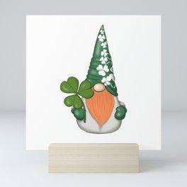 Green Patrick Gnome Mini Art Print