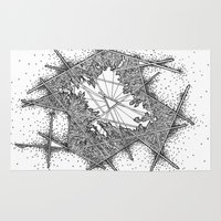 fractal Area & Throw Rugs featuring Fractal by Abstract Al