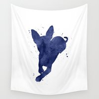 chihuahua Wall Tapestries featuring Chihuahua by Carma Zoe