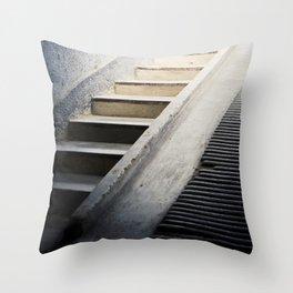 Hospital Stairwell: Sachsenhausen Concentration Camp, Oranienburg, Germany Throw Pillow
