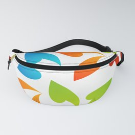 Four seasons leaves- colorful leaves to symbolize seasons Fanny Pack