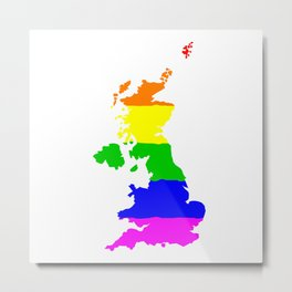 United Kingdom Gay Pride Flag Metal Print