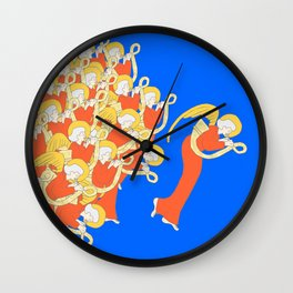 Angelic Chorale of Horns #Holidaze Wall Clock