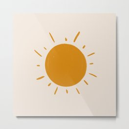 painted sun Metal Print