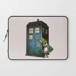 Through The Police Box - Alice In Wonderland Laptop Sleeve