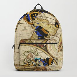 World Map Outline - travel inspiration Backpack