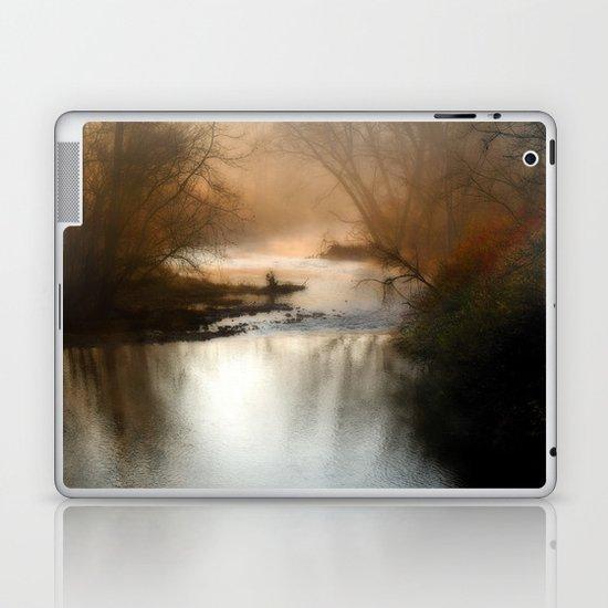 Foggy Alum Creek on a chilly fall morning Laptop & iPad Skin