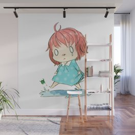 Child and Frog Wall Mural