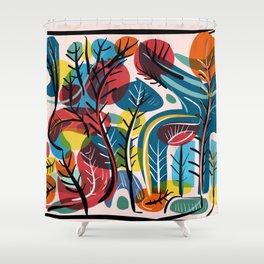 Dreamy Landscape illustration Shower Curtain