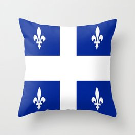 Flag of Quebec Throw Pillow