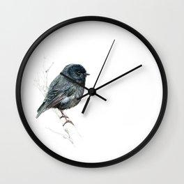 Black Robin Wall Clock