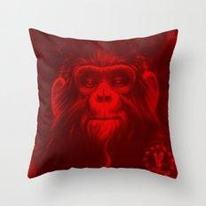 Twelfth Monkey Throw Pillow