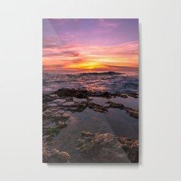 Pure Happiness Pirates Cove Malibu Sunset II Metal Print
