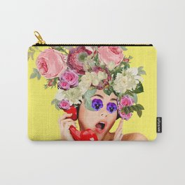 Woman in Rose Carry-All Pouch