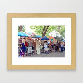 Artists in Montmarte - Place du Tertre Framed Art Print