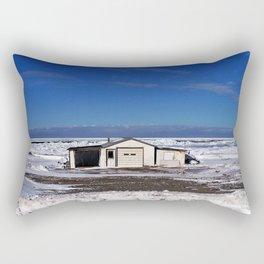 Garage and the Frozen Sea Rectangular Pillow